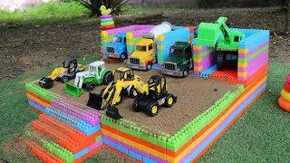 Building A Car Garage Toy | Construction Vehicles Toys | Building Blocks for Children