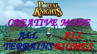 Portal Knights ALL BIOMES & TERRAINS in CREATIVE MODE Version 1.4.2