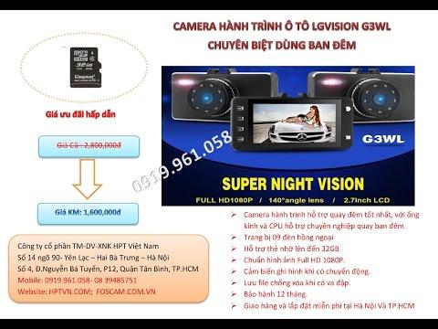 Camera hành trình LG vision G3WLH - Kết hợp dẫn đường bằng Smart phone. Sự kết hợp hoàn hảo.