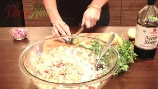 Raw Vegan Sprouted Quinoa Salad