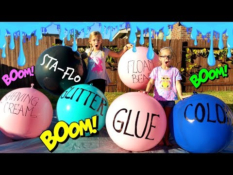 Thumbnail: Making SLIME With GIANT BALLOONS!!! - DIY Giant Slime Balloon Tutorial!!!