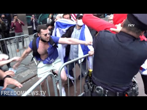 Fights Break Out Between Pro-Palestine and Pro-Israel Protesters in NYC