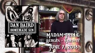 Dan Baird & Homemade Sin - Madam Felle, Bergen - 07th June 2018