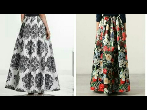 Box pleated skirt tutorial | box pleated long skirt drafting, cutting and stitching