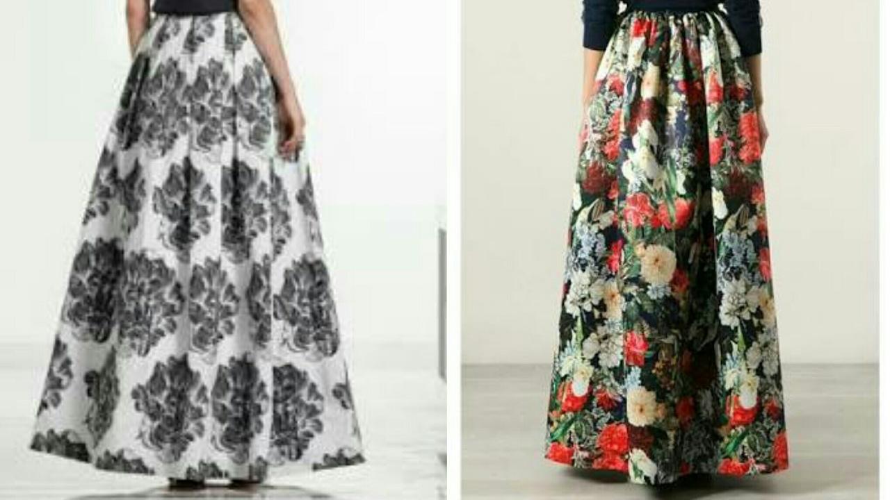 bb38f7b710 Box pleated skirt tutorial | box pleated long skirt drafting, cutting and  stitching