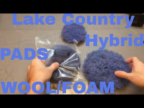 Lake Country Blue Hybrid Wool/Foam Blend Pad!! Cuts Like Natural Wool...Finishes Like A Foam Pad!!!