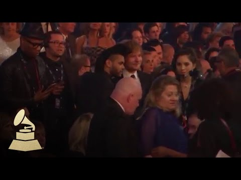 Ed Sheeran & The Weeknd | Audience Cam | 58th GRAMMYs