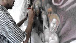 AEROGRAFIA DE OSMIO Y CADE  LA CREACION DE ADAN