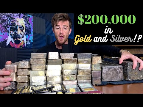 $100,000 in Silver Bars vs $100,000 in Gold Bars | Gold to Silver Ratio