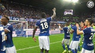 La joie après Racing-Montpellier HSC (1-0)