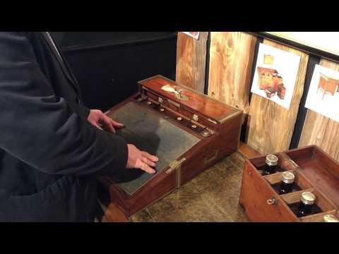 Antique Kingwood Writing Slope