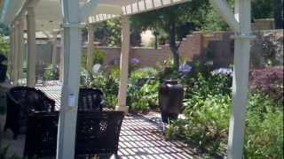 Thousand Oaks Landscape Design, Patio Cover, Concrete, Water Fountain, Lighting, Lawn, Sprinklers