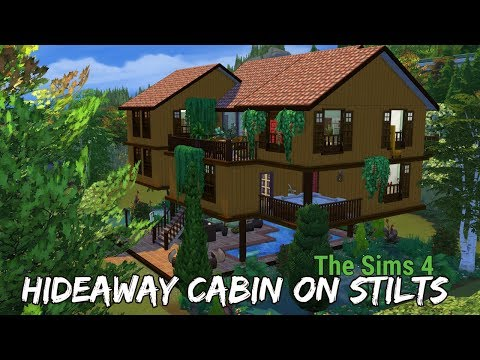 The Sims 4 House Build | HIDEAWAY CABIN ON STILTS