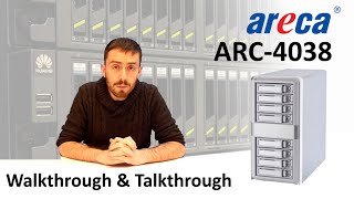 The Areca SAS JBOD Enclosure ARC-4038 8-Bay SAS-12Gb Walkthrough and Talkthrough