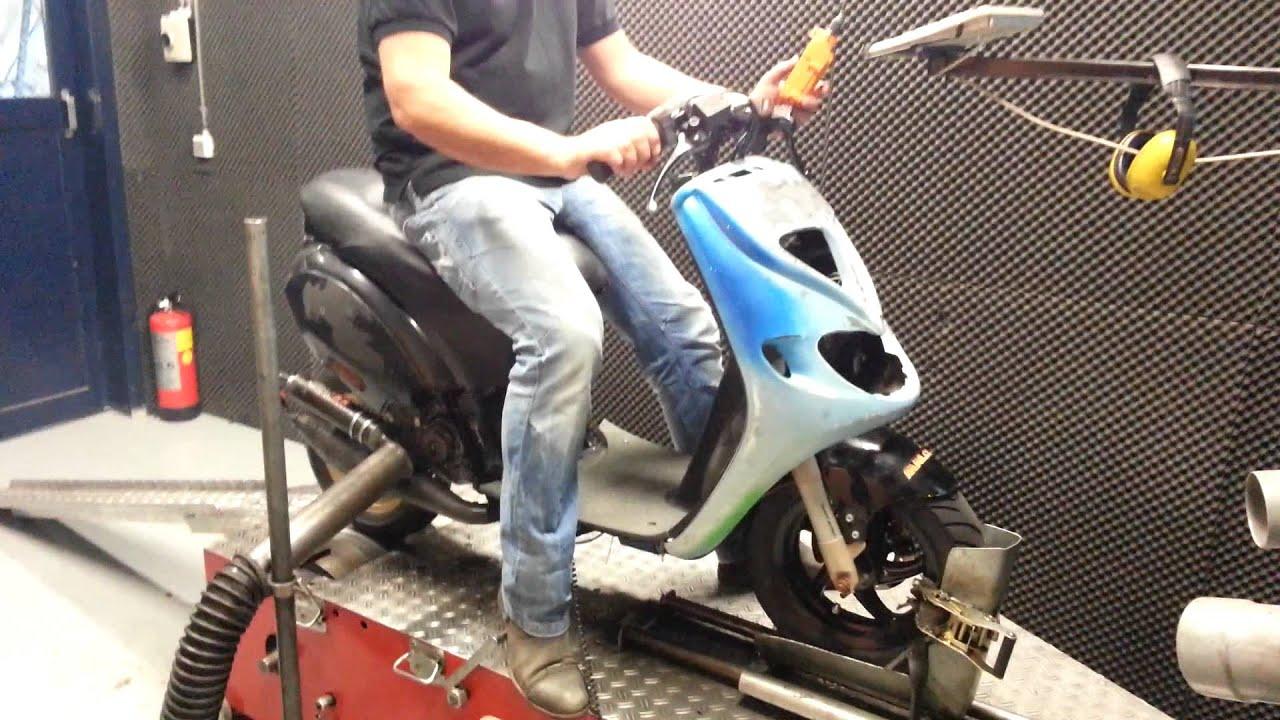 piaggio zip sp malossi team speed 70cc testbank.. - youtube