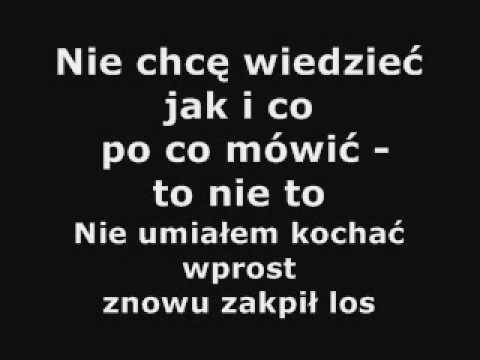 Lady pank - Znowu pada deszcz  - nie karaoke ale napisy, tekst, słowa