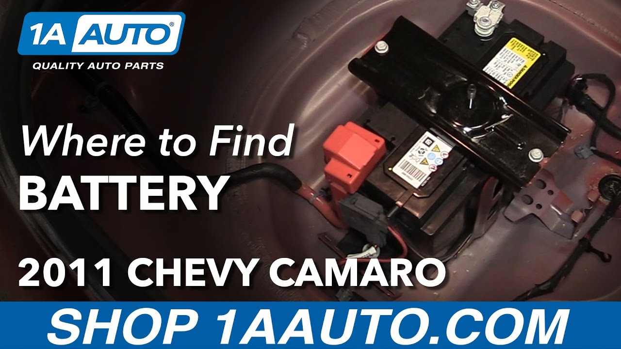 Where To Find Your Battery 2011 Chevy Camaro Youtube Fuse Box