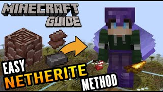 EASIEST NETHERITE METHOD - How to Find Ancient Debris Quickly - Minecraft Guide EP 10