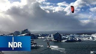 Island: Kitesurfen durch die Gletscher | 360 Grad | NDR Doku