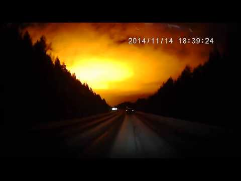 AMAZING FLASH OR EXPLOSION OVER URAL MOUNTAINS, SIBERIA!