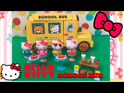 HELLO KITTY SCHOOL BUS Unboxing and Play | TOYS GALAXY