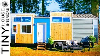 Gorgeous Luxury 275 Sq. Ft. Tiny House With Separate Industrial Kitchen | Tiny House Interiors