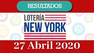 Loteria Nueva York Tarde Resultados De Hoy 27 De Abril Del 2020 Youtube