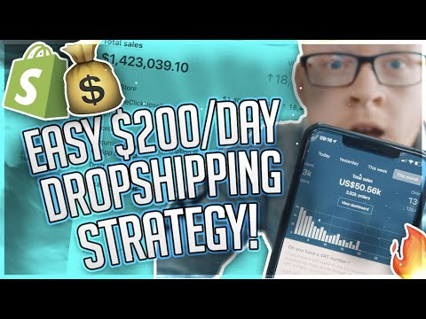 $0 to $200/Day In 5 Days Or Less With Shopify Dropshipping thumbnail