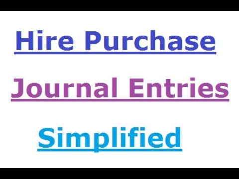 Hire Purchase Journal || Mumbai University || First Year BCom/BAF/BBI/BMS