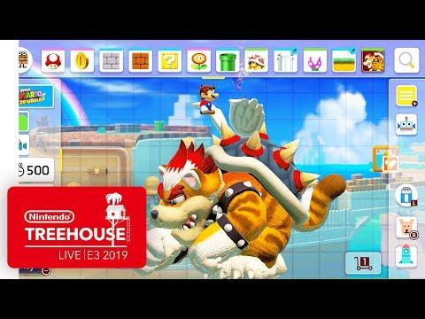Super Mario Maker 2 Gameplay Pt. 2 - Nintendo Treehouse: Live   E3 2019