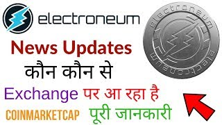 Electroneum Coin News Update CoinMarketCap World Wide Cryptocurrency Exchanges Launching Soon Hindi