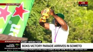 Springboks parade tour reaches Vilakazi Street, Soweto