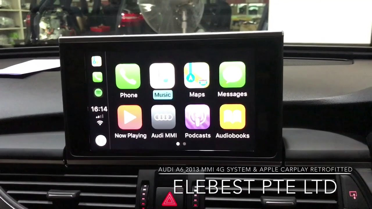 MMI 4G System & Apple CarPlay Retrofitted in Audi A6 2013 - YouTube