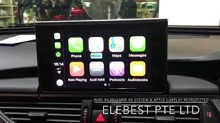 MMI 4G System & Apple CarPlay Retrofitted in Audi A6 2013
