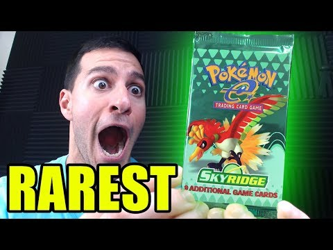 POKEMON CARDS OPENING One of the RAREST VINTAGE BOOSTER PACKS! (SKYRIDGE)