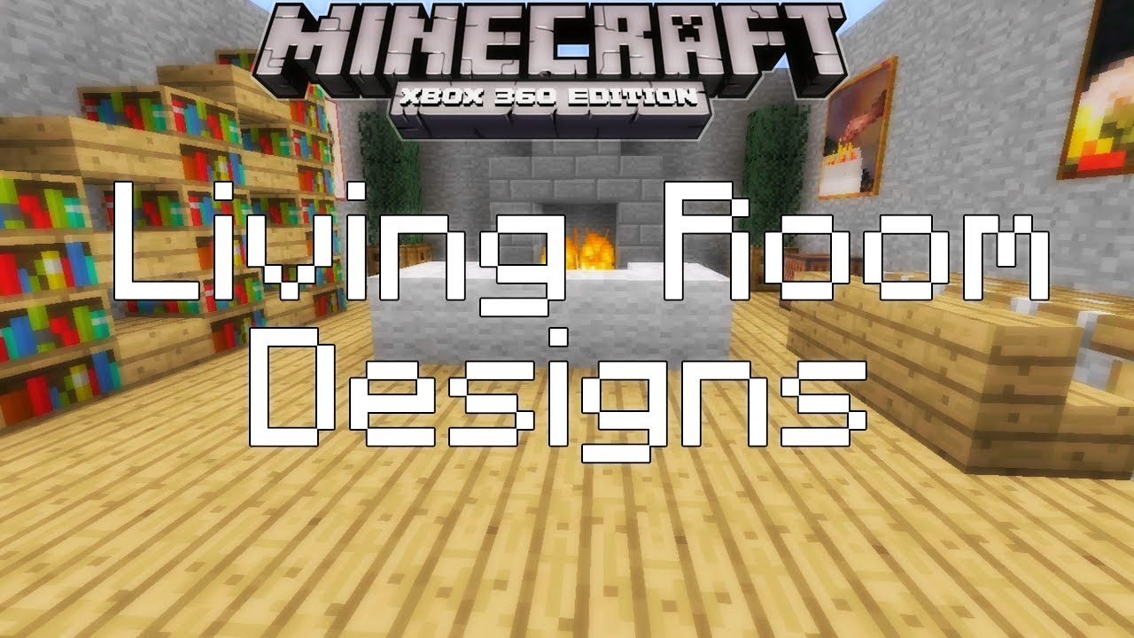Minecraft xbox 360 simple living room designs youtube for Minecraft house interior living room