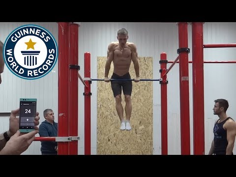 Most consecutive muscle ups - Guinness World Records