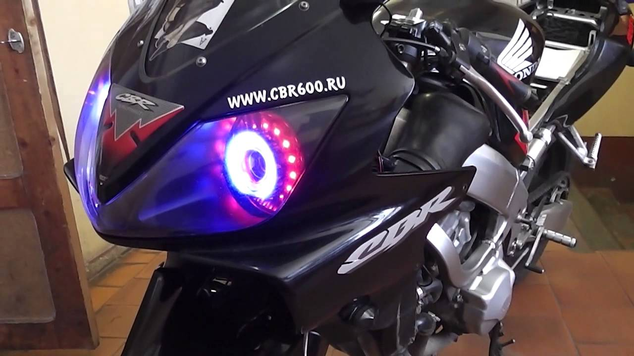 Bi Xenon Light Angel And Devil Eye Led Light Honda Cbr 600f4i