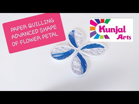 PAPER QUILLING FLOWER PETAL /ADVANCE QUILLING/ CREATIVE / QUILLING COMB