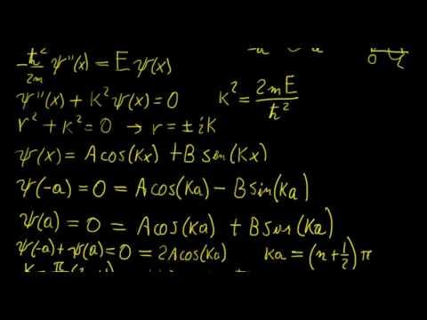 Symmetric infinite square well | Quantum Mechanics | LetThereBeMath |