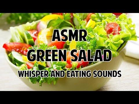 9 MUKBANG #ASMR :  PREPARING AND EATING A GREEN SALAD