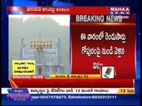 Disservice activity Flight Passed from Tirumala Temple