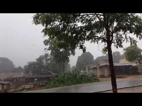 Heavy rain in Jharkhand Village