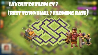 Clash Of Clans - Melhor Layout de Farm para Centro de Vila 7 (Best Town Hall 7 Farming Base) #1