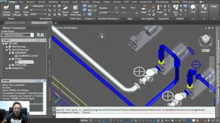 Autocad plant 3D 2016 Tutorial: 3D Pipe routing with Xref Equipment dwg.
