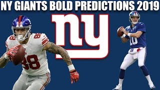 NY Giants Bold Predictions for 2019