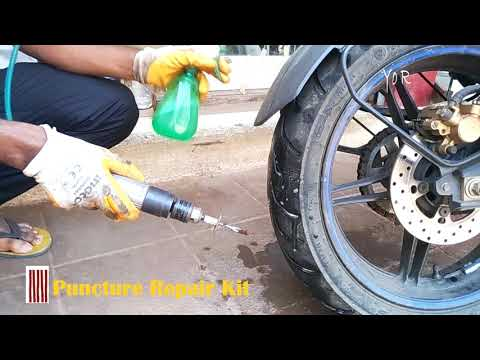 Tubeless Tyre Puncture Repair – DO it Yourself -Yo R_Vlogs