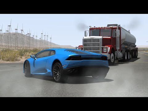 Luxury & Sport Car Crashes Compilation #14 - BeamNG Drive