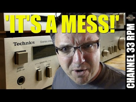 Bringing a $5 GARAGE SALE stereo BACK TO LIFE with Deoxit | Cleaning a Technics amp