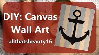 Diy: Canvas Wall Art (minimal Draw/paint Skills Required) ♡ 2014 | Allthatsbeauty16